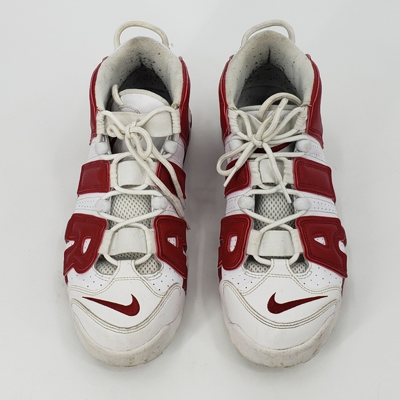 NIKE AIR more uptempo varsity red sneakers